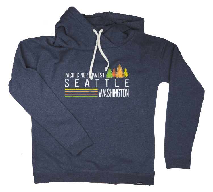 All of our Seattle shirts are meant to pay homage to the aspects of the Emerald City that we love the most, which is why we made our Women's Seattle Northwest Trees Sweatshirt. The trees in the springtime, with full leaves and the sun shining, is one of the best parts of Seattle in the spring.