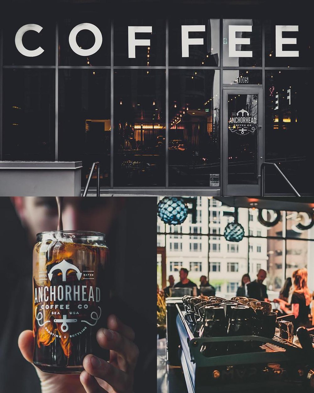 Anchorhead Coffee - In the heart of Seattle This location serves beer & wine if you need a different kind of pick me up.