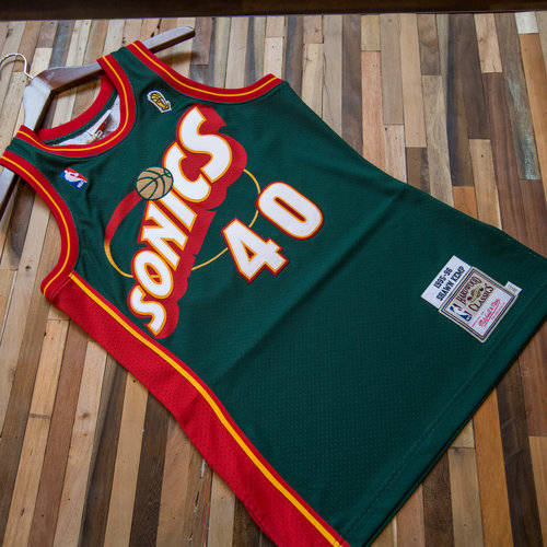 8bc6ea0d3225 Mitchell   Ness Shawn Kemp Authentic Finals Jersey. 0F7A0427.jpg