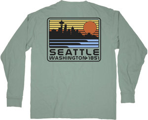 421e60c433 Seattle Washington Van Gogh Longsleeve Shirt. 34.99. Quick View. Men's  Seattle Sunset Long Sleeve