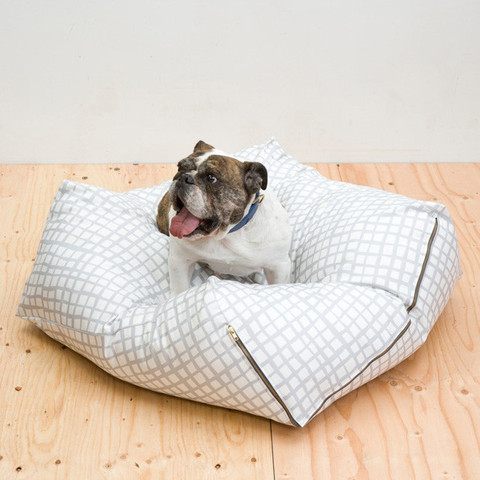 there's only so much originality to be found in a dog bed; it's all about shape and print for me. love this one by urbanest. get it at love thy beast  here.