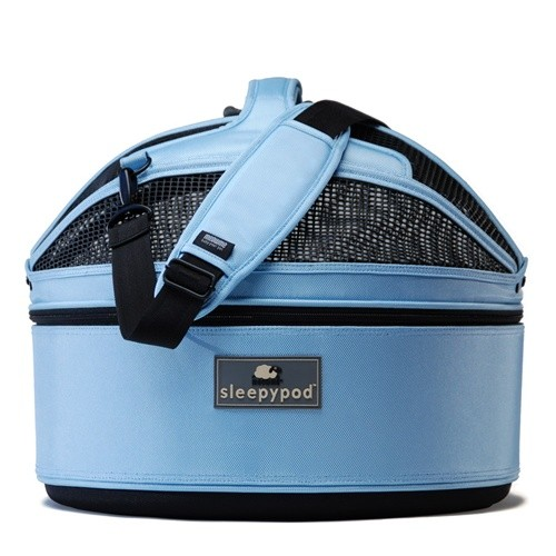 luxe and safe travels for your cat (or dog) in this modern carrier that works as a travel bed, too. lots of colors. by sleepypod.get it  here.