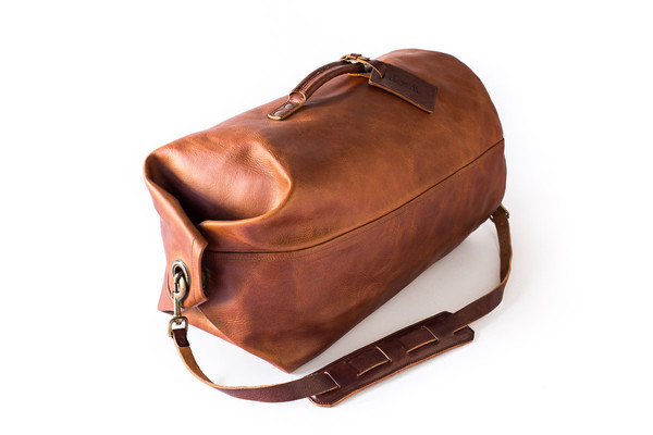 for a quick business trip or weekend away, this vegetable tanned duffle bag is rugged and refined,and it will only get better with wear. by whipping post. get it  here.