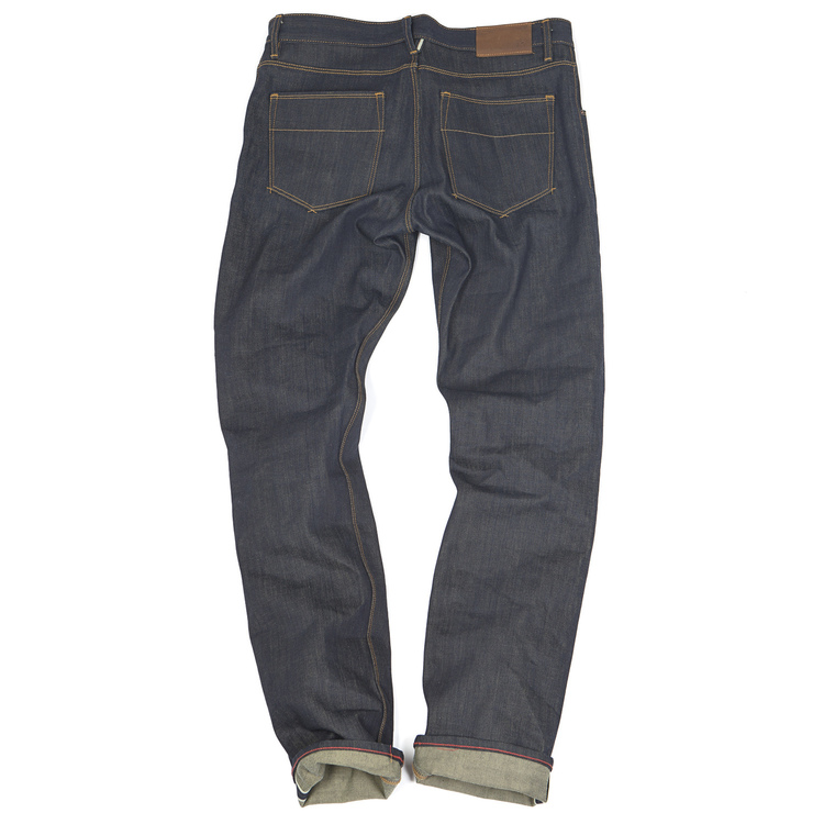 i don't know about your man, but my husband unapologetically rejects skinny jeans. he's not having it.raw selvedge (read: old school, stiff denim) jeans in a darker wash have a classic, but on-trend look that works. these are by raleigh denim workshop. get them  here.