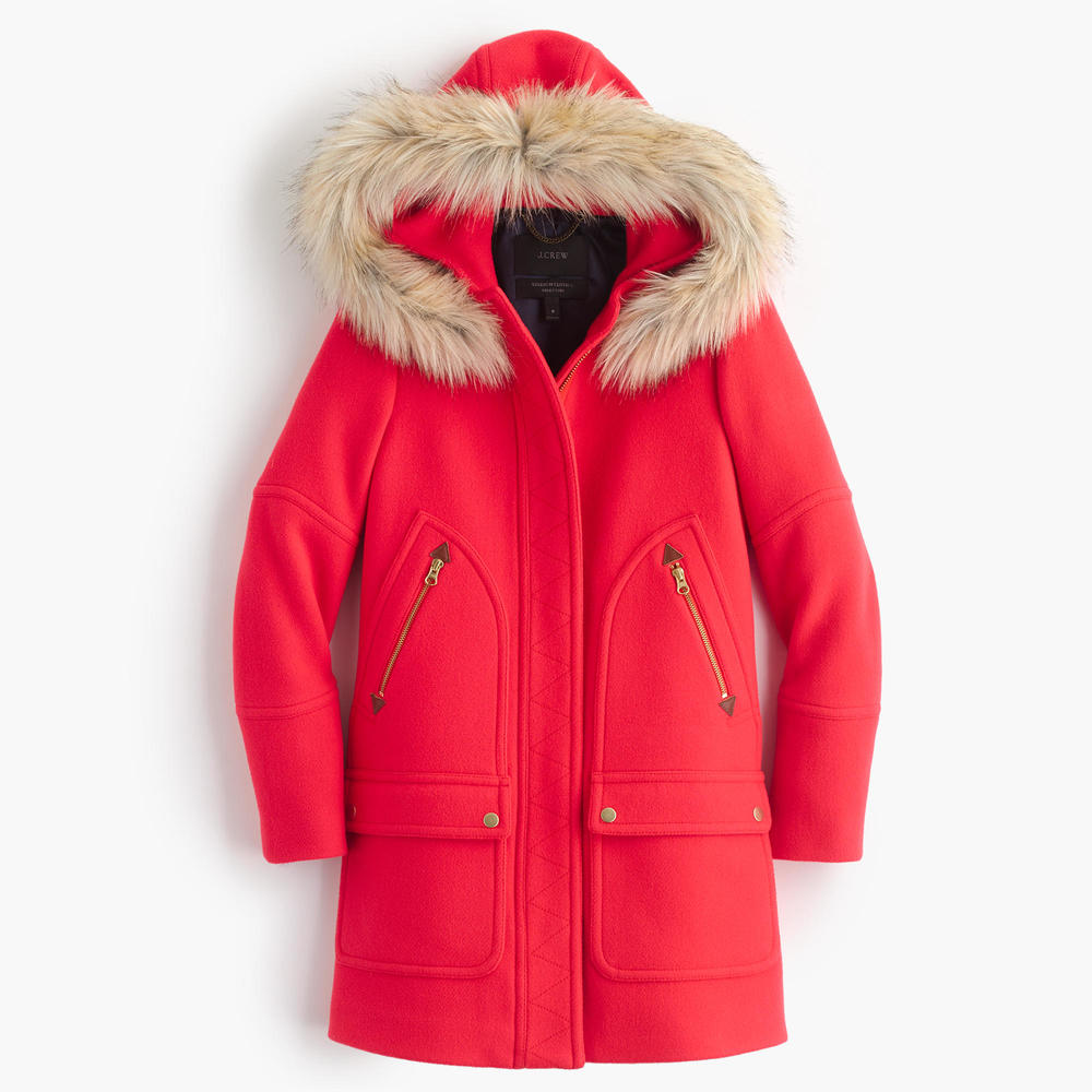 if you already have your black coat. and if you already have a camel color, go for this true scene-stealer. it's bright alright, but it will work with your blacks and whites and browns, and navy too. no, really i got it; it's a winner. get it at j crew  here.