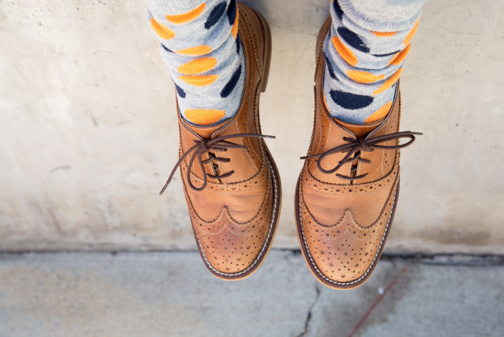 photo Orit Harpaz | i wear these all the time. they are as comfortable as my sneakers and as versatile, too. when i'm feeling cheeky, i add fun socks or colored laces.