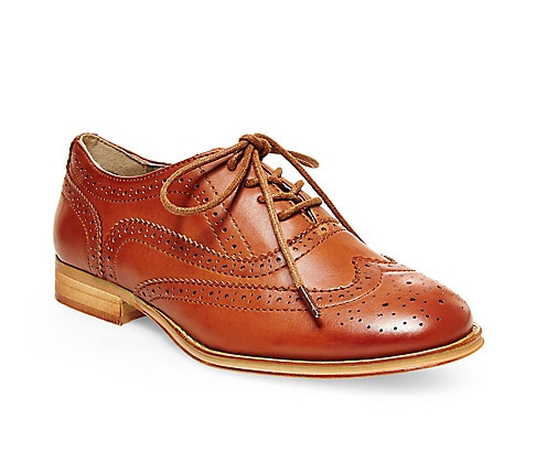 love this classic remake. this pair should be considered a neutral; the light rusty brown will play well with other colors in your wardrobe. by steve madden. get it here.