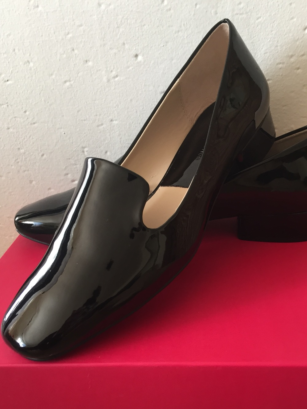 sleek, right? these shiny beauties would make a basic black outfit a bit more interesting.