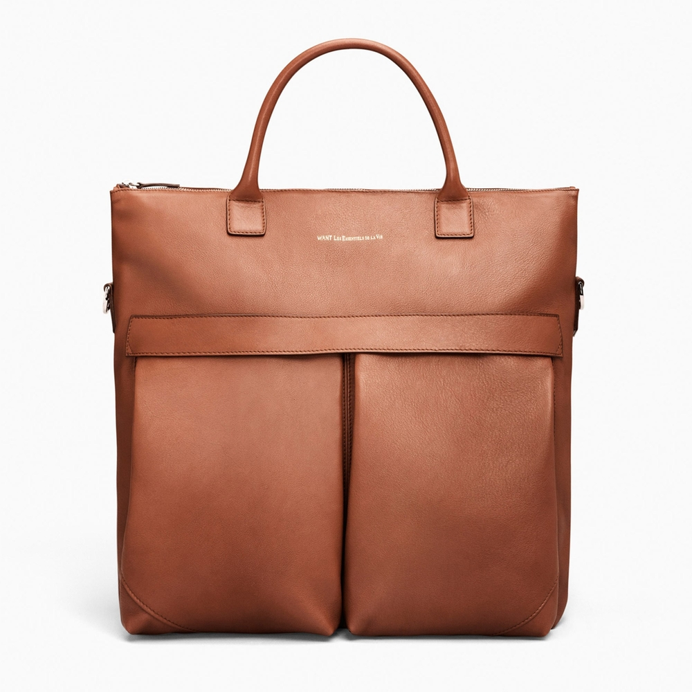 do i really need to say anything about this tote? it's a simple, elegant carryall in the perfect shade of cognac. so impeccably crafted. by want les essentiels de la vie. get it  here.