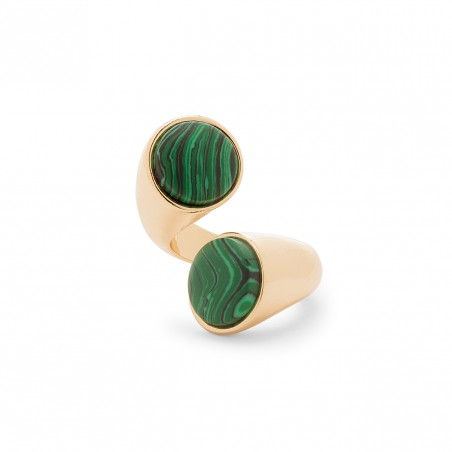 modern stone ring in gold $44.95