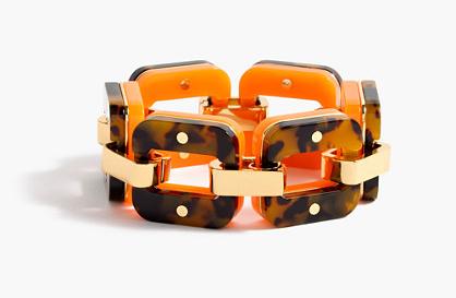 tortoise & lucite link bracelet  $78