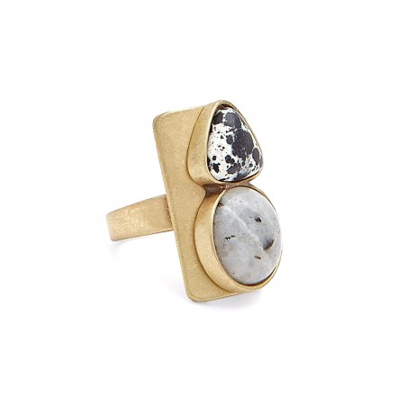 gem stone block ring $49.95