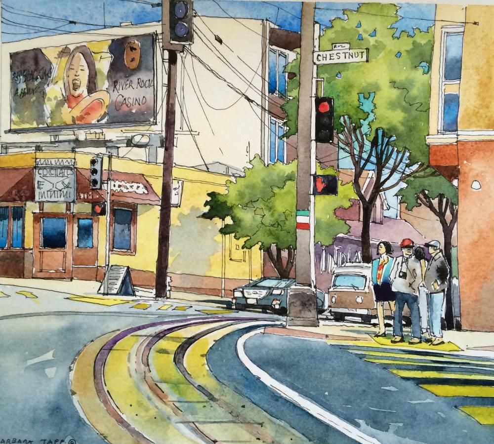 Street Corner Huddle