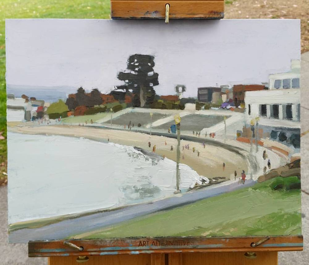No Boats at Aquatic Park (on the easel)