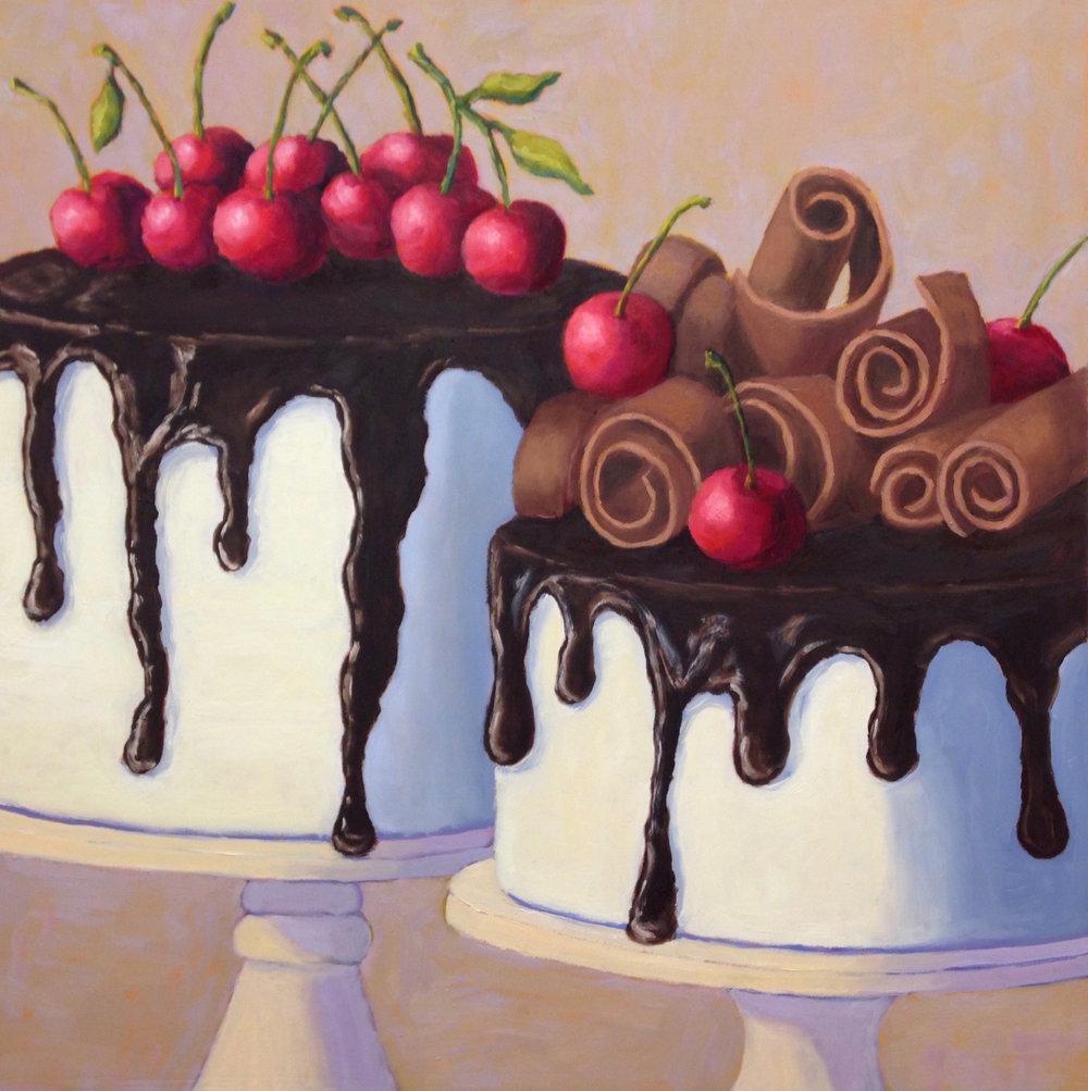 Chocolate Tuxedo Cakes