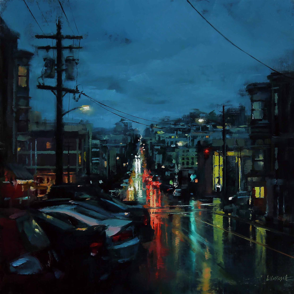 The Evening Drifted with the Rain