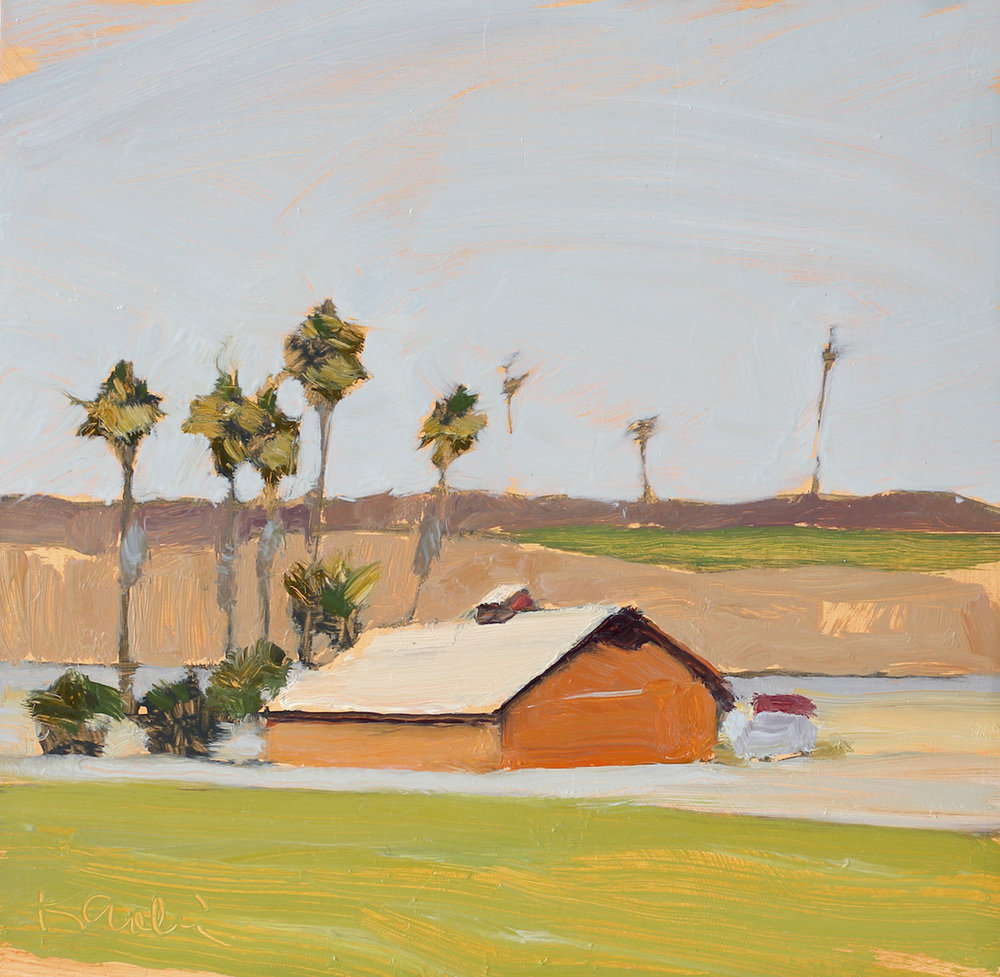 Barn with Palms