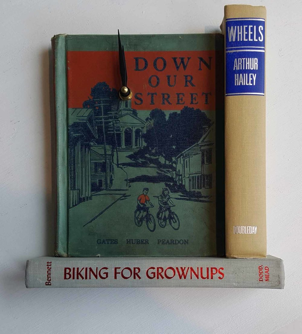 Biking for Grownups Book Clock