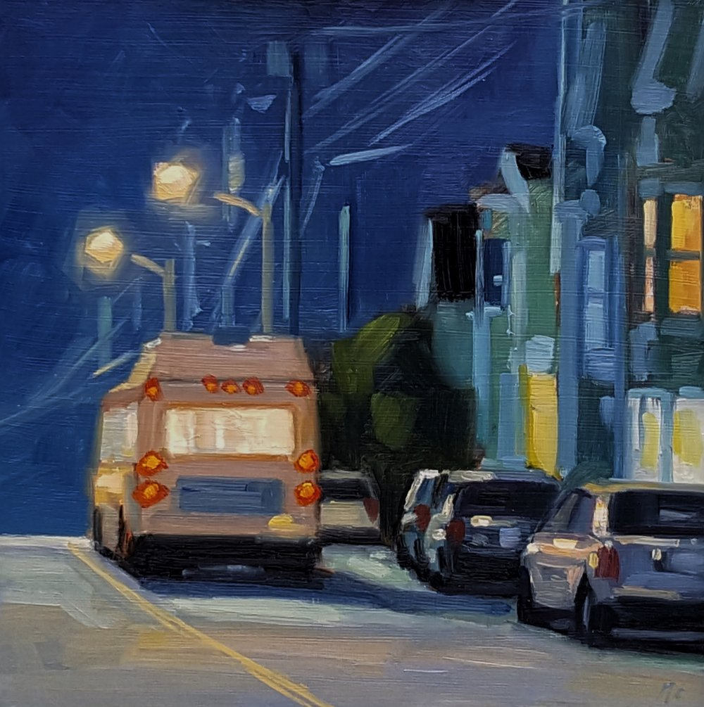 Bus on Union (Night)
