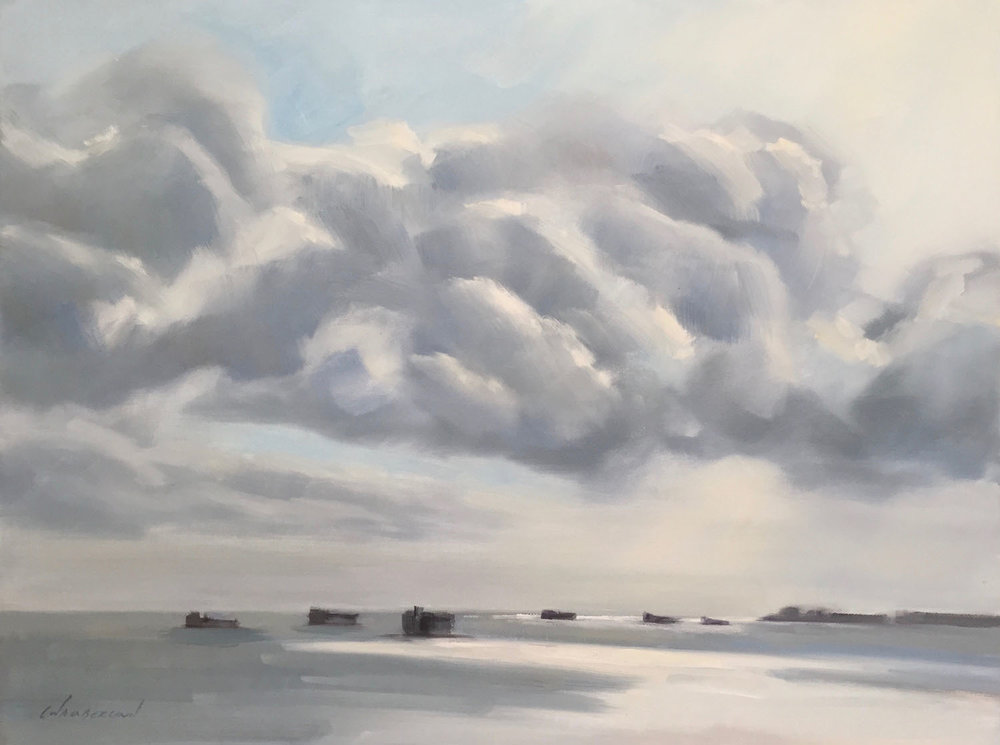 Clouds and Container Ships