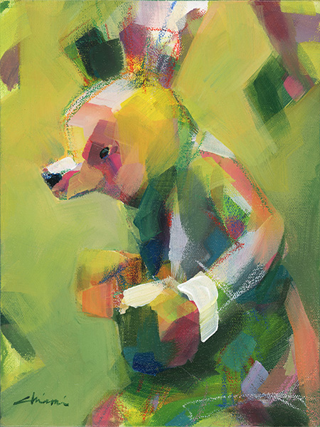 Boxing Bear - Yellowgreen