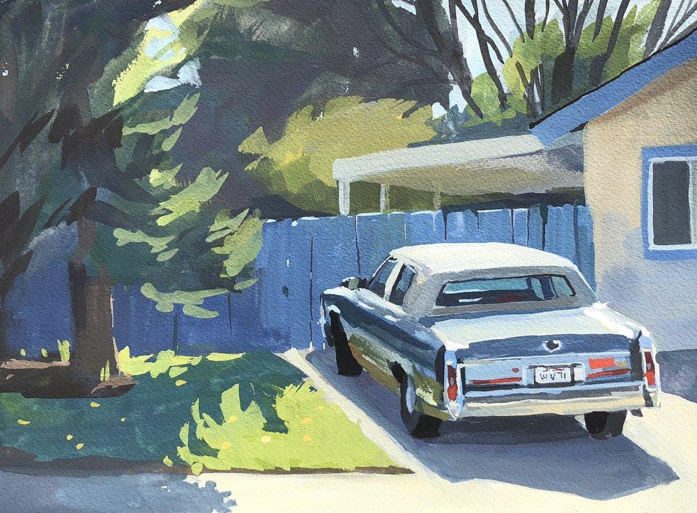 Blue Cadillac