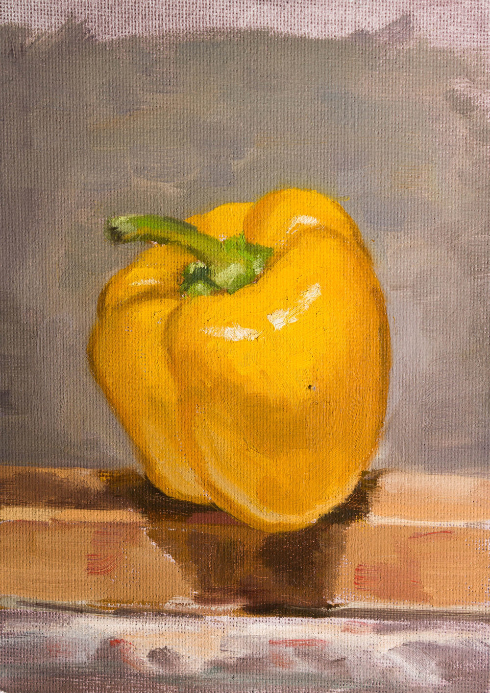 Yellow Pepper on the Easel