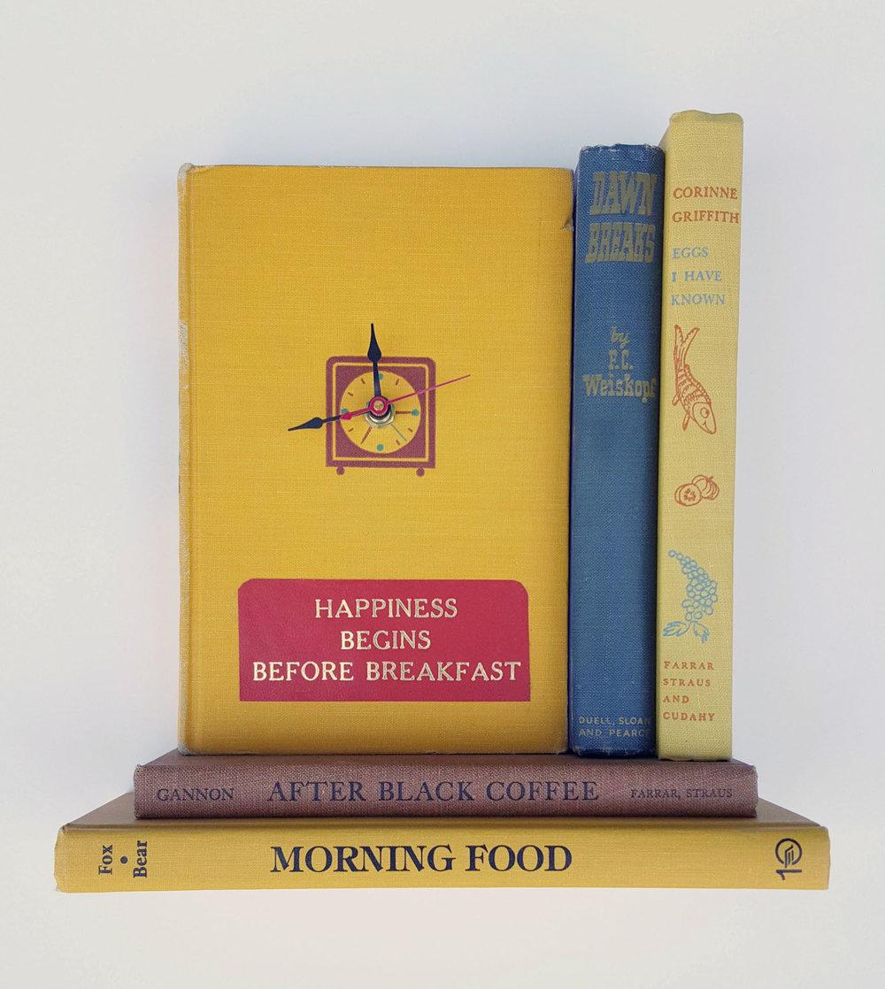 Morning Food Book Clock