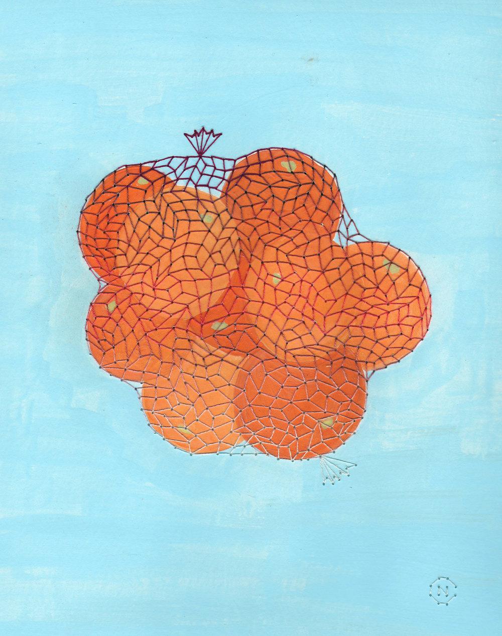 Oranges in Net