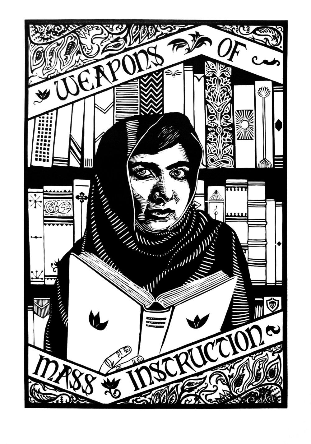 Portrait of Malala Yousafzai