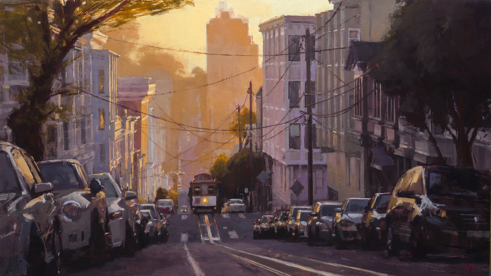 Golden Light and a Cable Car