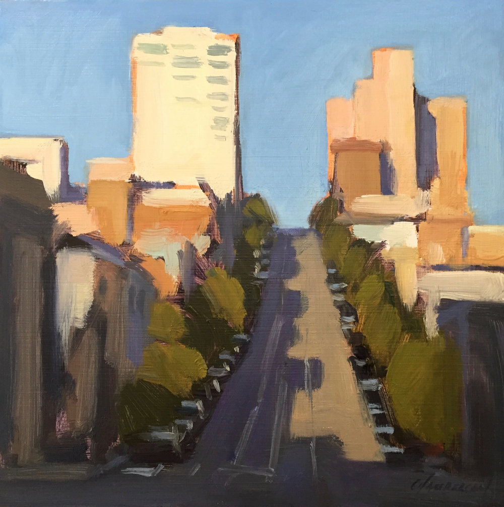 Shadows on California (plein air)