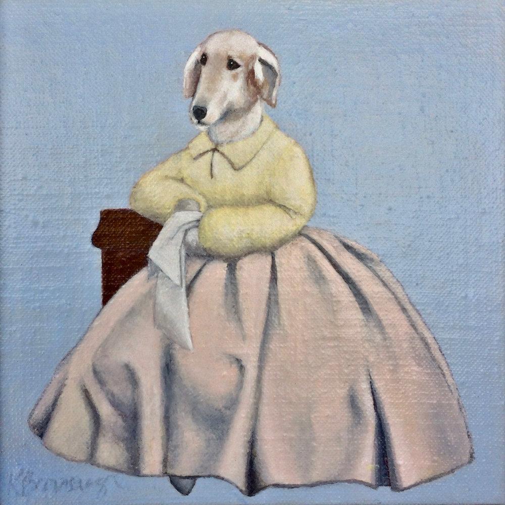 Sophia Holds a White Handkerchief
