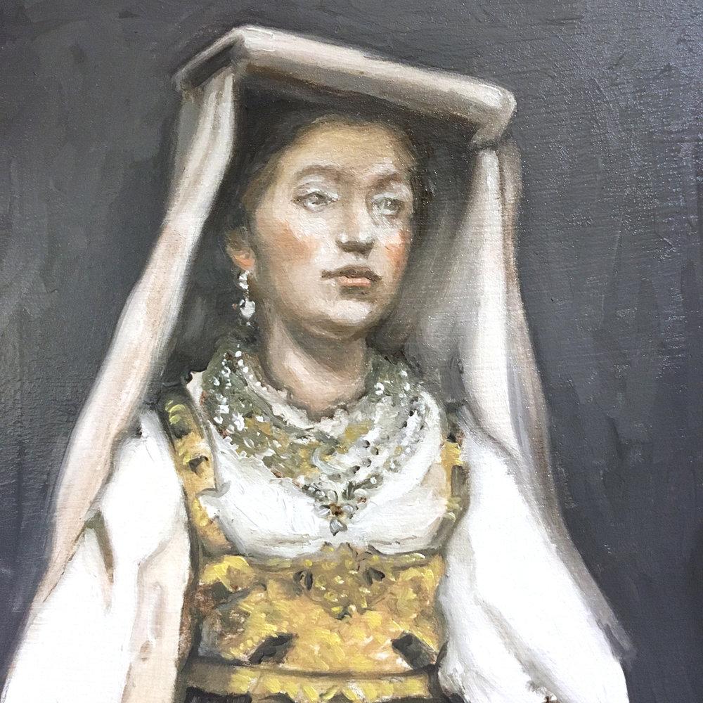 Italian Woman in Traditional Dress, 1913