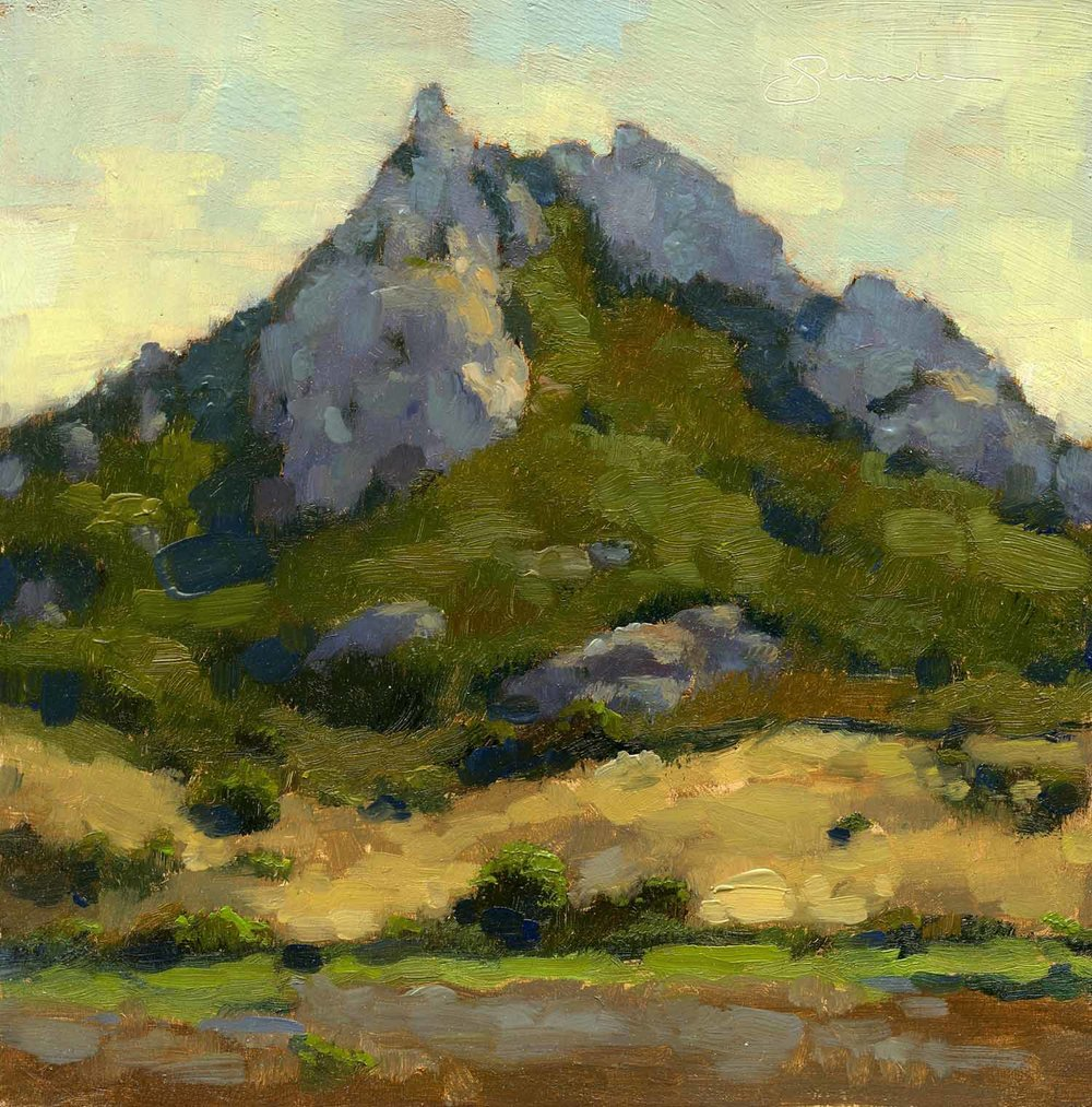 Ode to William Wendt Sketch