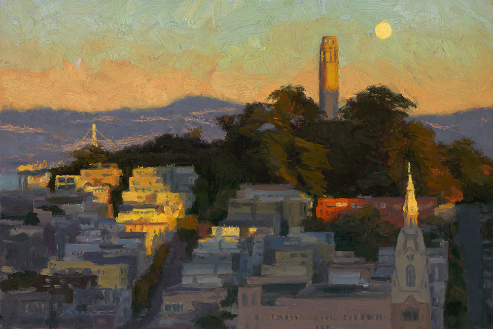 Moonrise Over Coit Tower