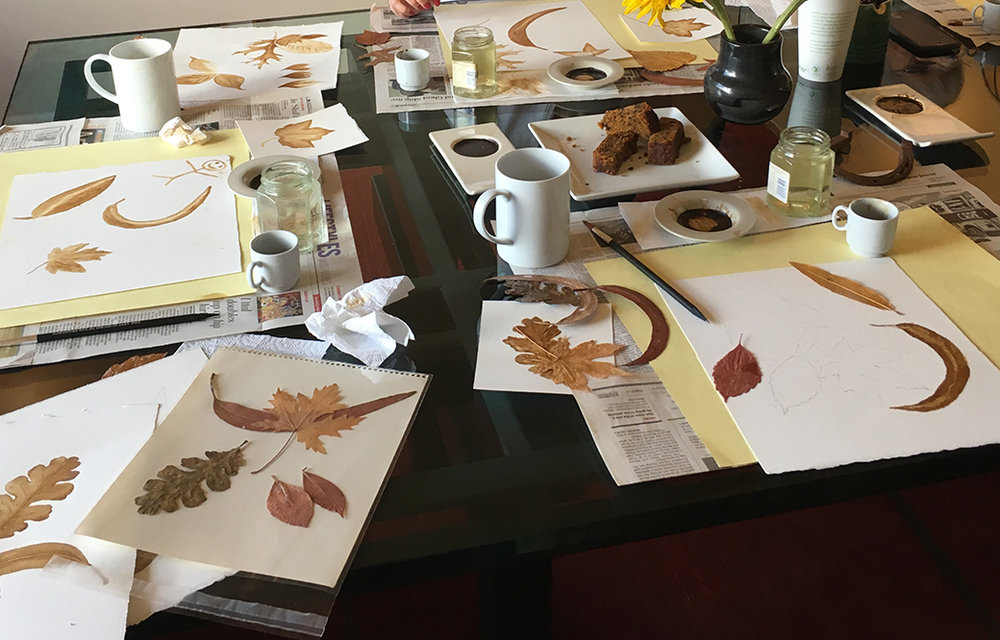 Let's get started. Painting leaves is an easy way to get started painting with coffee.