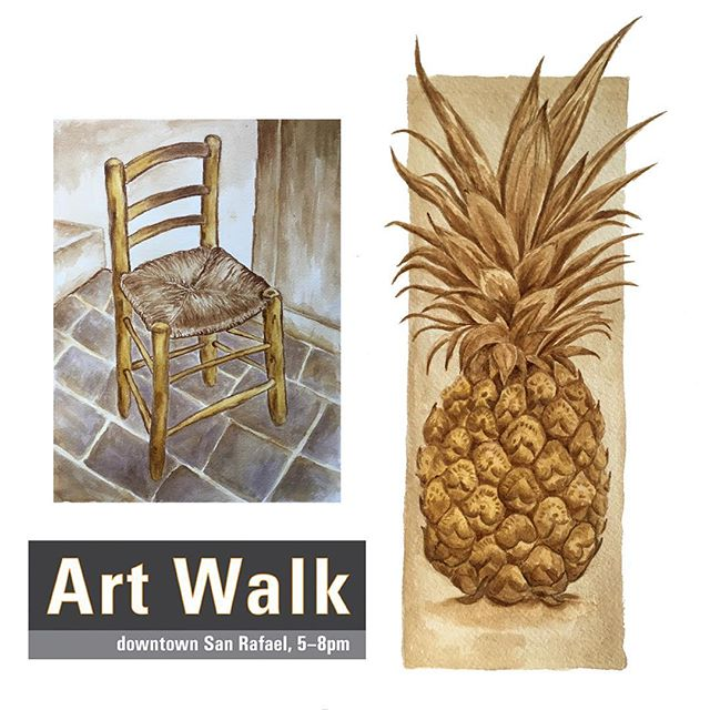 San Rafael 2nd Friday Art walk tonight. The show will be up for one month.