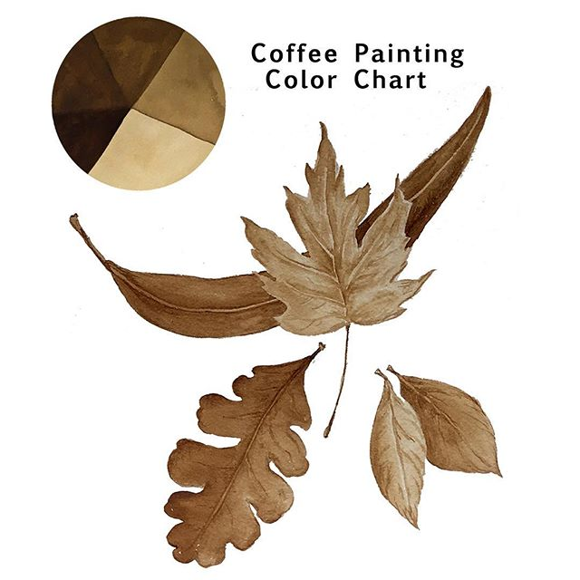 Many layers of coffee create darker colors.