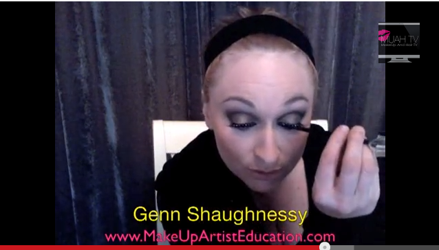 False Lashes and liquid liner applicaiton by genn shaughnessy