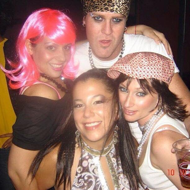 Do you see me? I barely recognize myself.... #tbt #wigparty circa 2002. All makeup by @christburt67 and I using @maccosmetics #rip @vloveandspecialsalsa