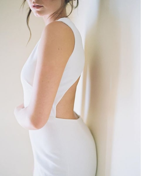 Meet Marlow, one of our newest arrivals from @akristenbridalakristenbridal  She's classic with a modern sexy twist.