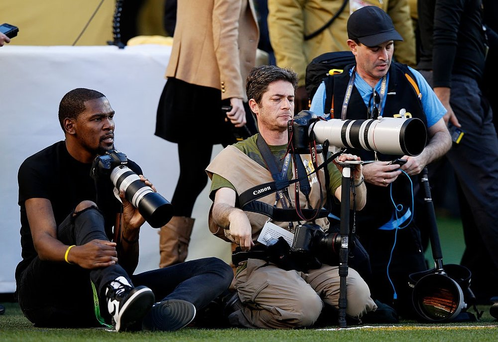 Kevin Durant Was A Credentialed Super Bowl Photographer
