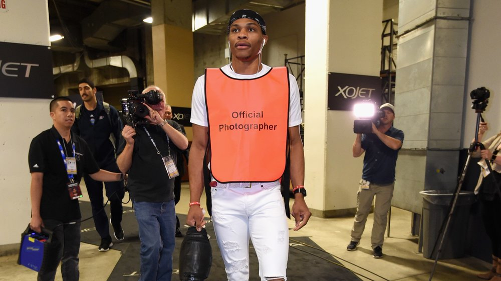 Russell Westbrook Trolled His Old Bud Kevin Durant with an Interesting Outfit