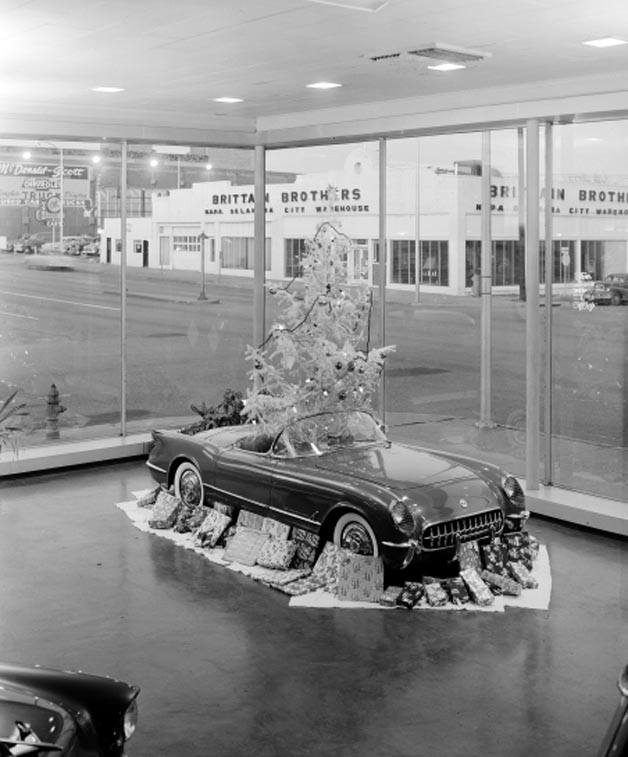 PLENTY Mercantile is located in what used to be Scott Chevrolet in Automobile Alley. The above is an actual picture from Scott Chevrolet, believed to have been taken in the 1950s. (Credit: Facebook - okhistory)