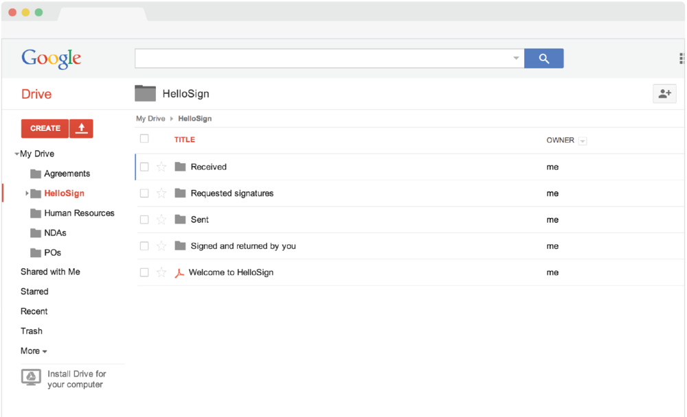 HelloSign Google Drive Integration.png