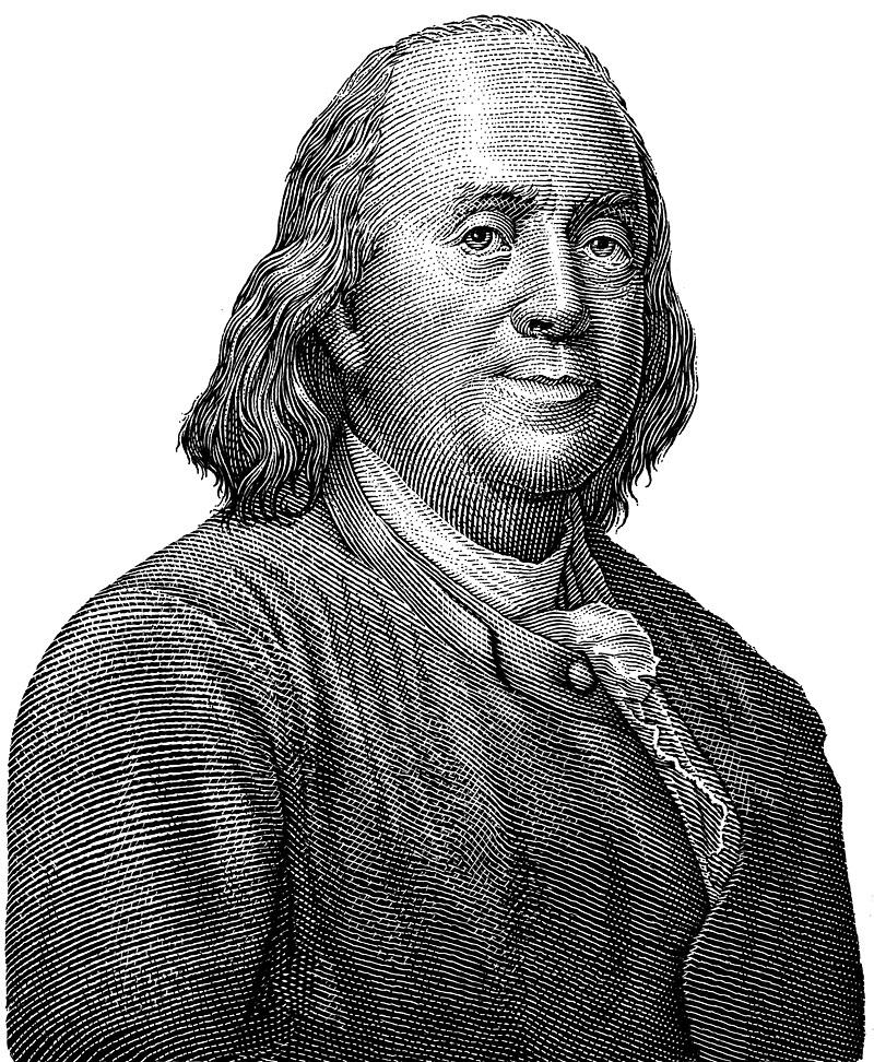 Benjamin Franklin Scratchboard Portrait