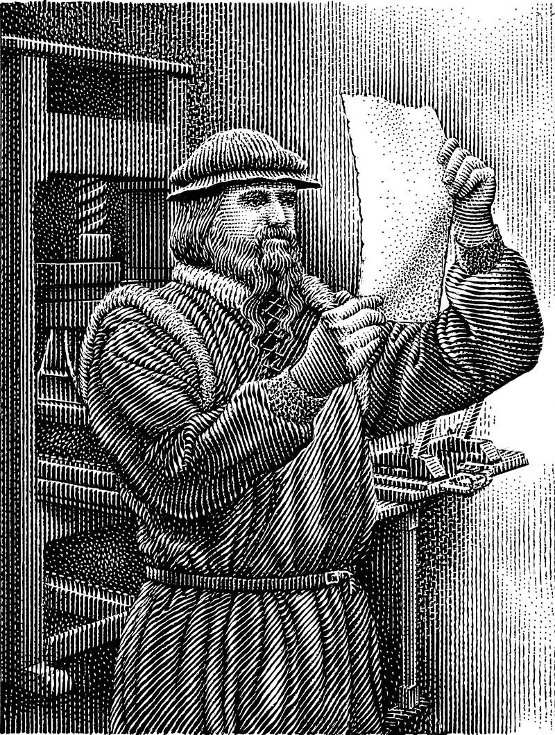 Gutenberg At The Printing Press