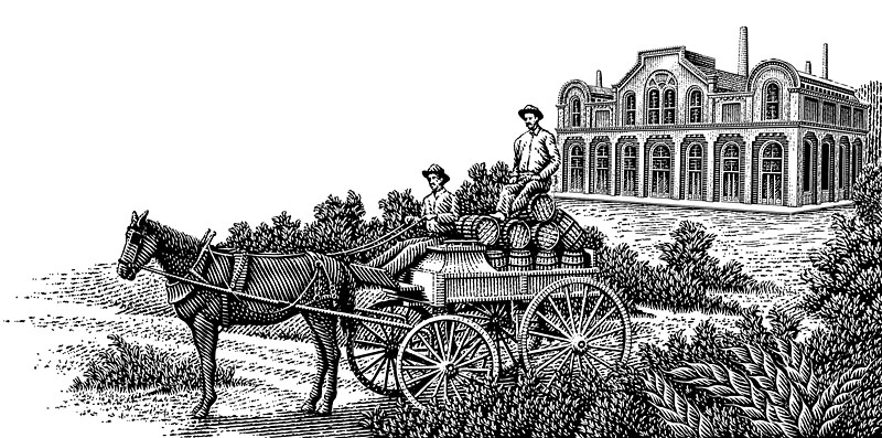 Horse-drawn Beer Wagon