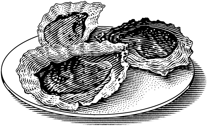 Oysters on a Dish